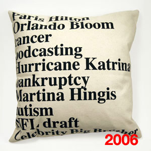 spring :  pop culture pillow google cushion
